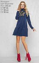 Женское свободное трикотажное платье на флисе (3106 lp), фото 3