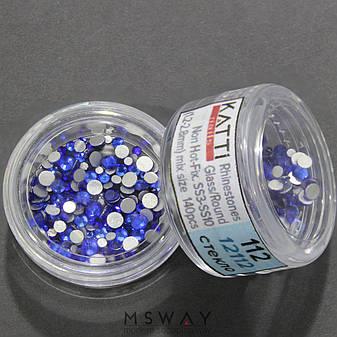 KATTi Стразы стекло в баночке Тон 112 sapphire ss3-ss10 140шт, фото 2