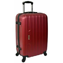 Дорожный чемодан Line (небольшой). Бордовый цвет.