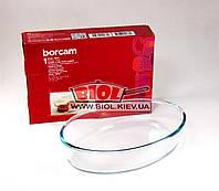 Форма стеклянная термостойкая 26х18х6см овальная для выпечки Borcam (Турция) 59084
