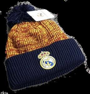 Зимняя шапка Реал Мадрид коричневая