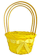 Корзины из лозы, набор из 3 шт (14278, желтый) 24х16 см