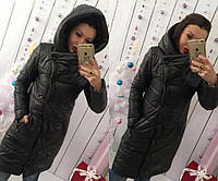 Женская теплая зимняя куртка-пальто в разных цветах, фото 1