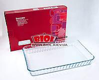 Форма стеклянная термостойкая 40х27х5см прямоугольная для выпечки Borcam (Турция) 59204, фото 1