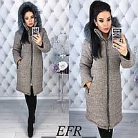 Женская зимняя куртка-букле (синтепон 200), фото 1