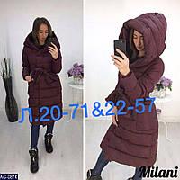 Женская зимняя куртка-пальто (норма и батал), фото 1