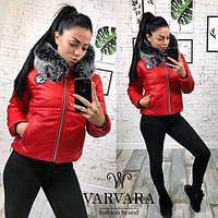 Куртка женская с капюшоном мод.119 (плащевка на синтепоне 250 + качественная подкладка), фото 1