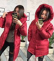 Женская тёплая куртка зефирка ( плащевка+синтипон 250), фото 1