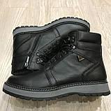 42,43 р  Мужские ботинки кожаные на молнии тёплые, фото 2