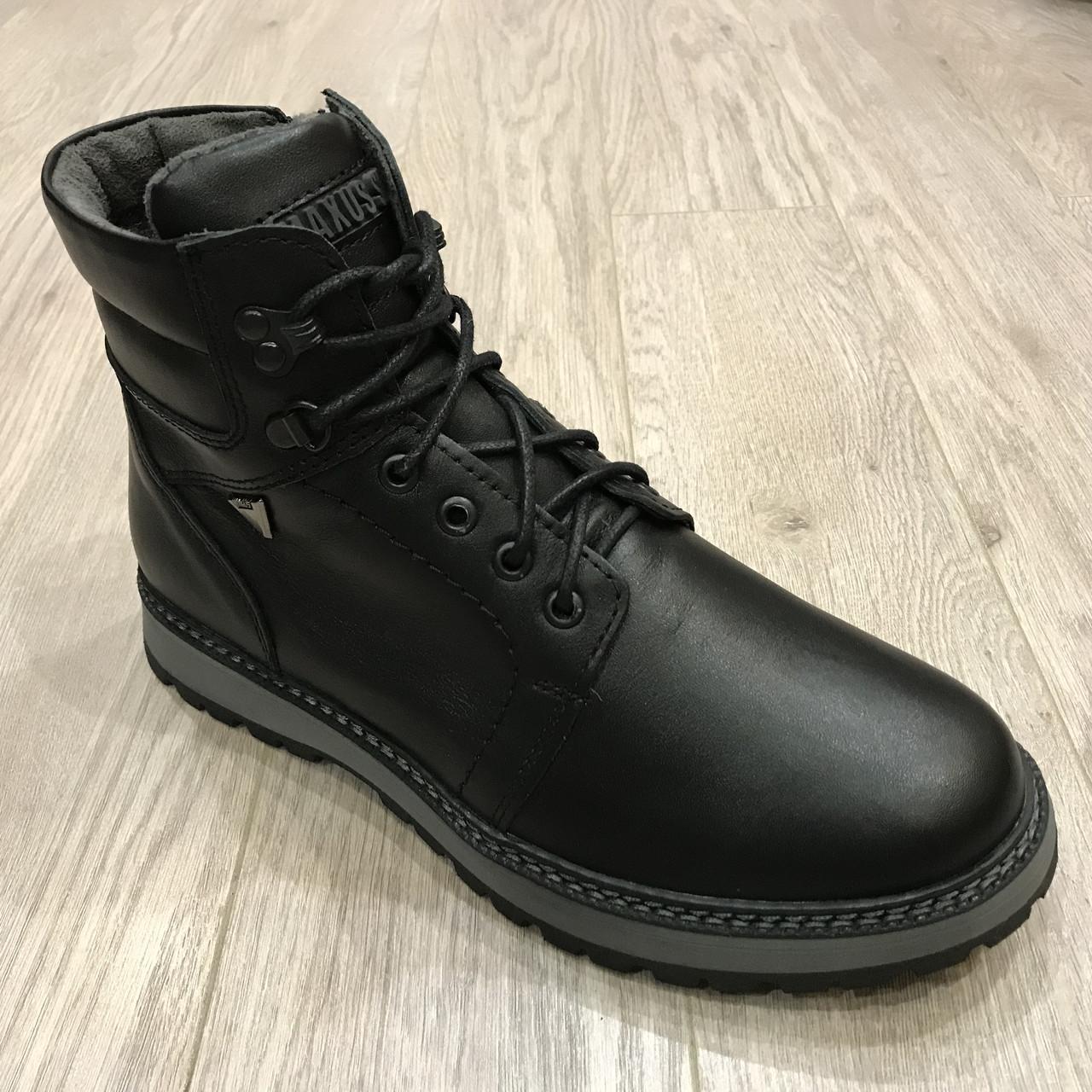 42,43 р  Мужские ботинки кожаные на молнии тёплые