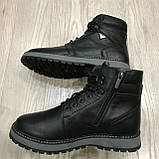 42,43 р  Мужские ботинки кожаные на молнии тёплые, фото 3