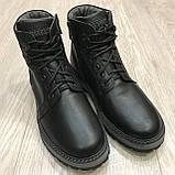 42,43 р Чоловічі черевики шкіряні на блискавці теплі, фото 5