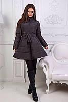 Куртка-пальто колокольчик №170 (непромокаемая плащевка на трикотаже), фото 1