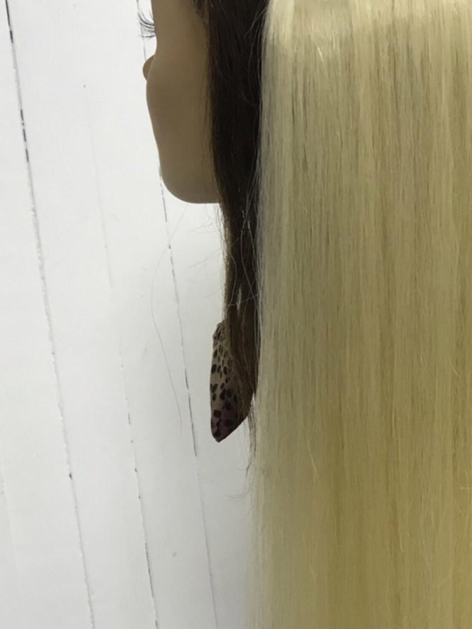 Волос на заколках