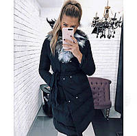Женская куртка с меховым воротником синтепон 300 мод.535, фото 1