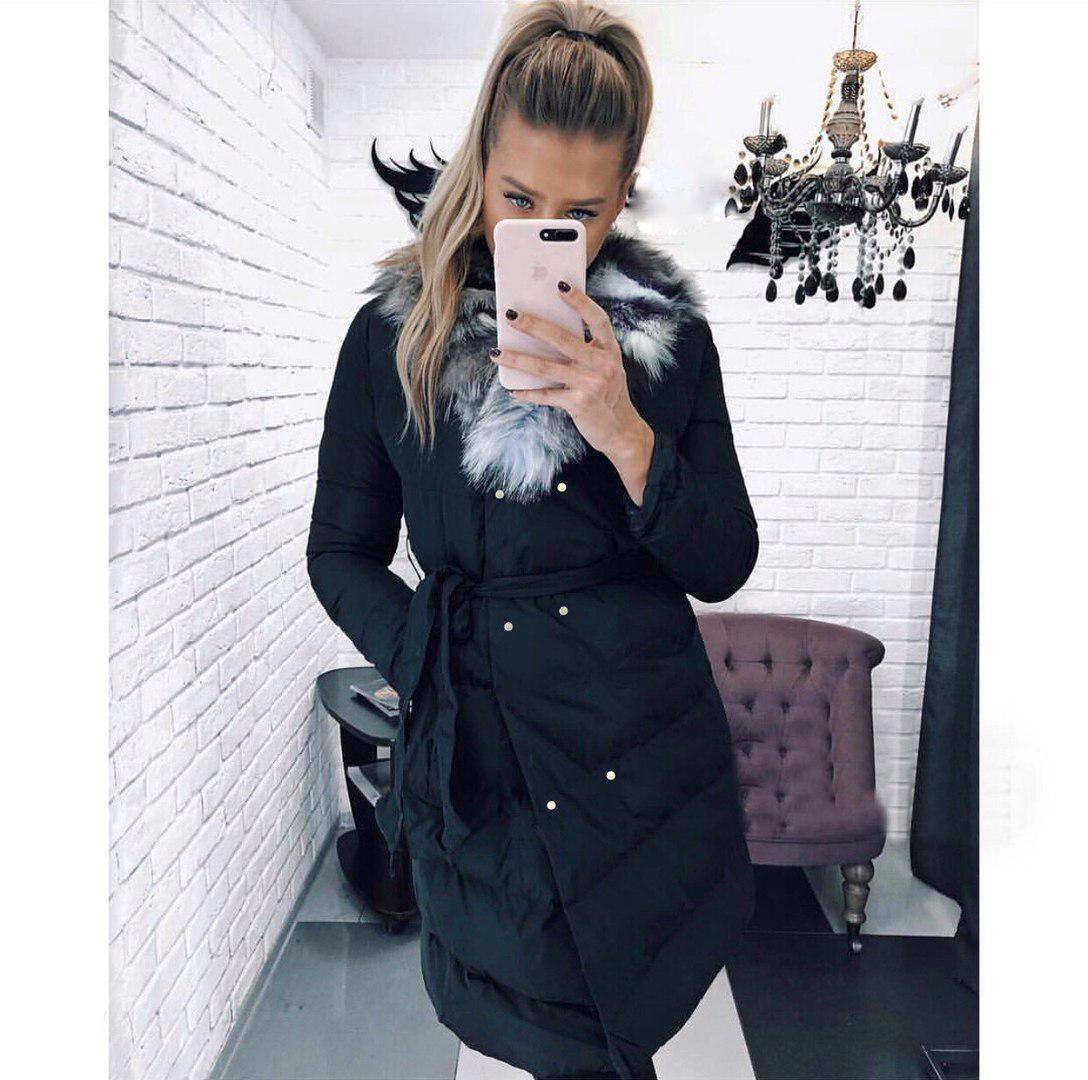 Женская куртка с меховым воротником синтепон 300 мод.545, фото 1