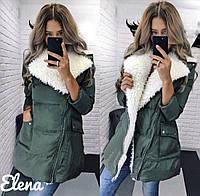 Женская куртка с мехом синтепон 300 мод.525, фото 1