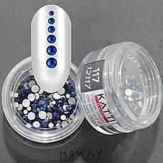 KATTi Стразы стекло в баночке Тон 117 blue hematite ss3-ss10 140шт, фото 3