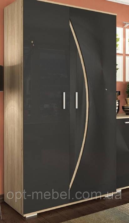 Шкаф 900 Ольвия черный глянец