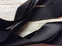 Лента атласная 5см Черная 5м