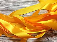 Лента атласная 2,5см Желтая 5м