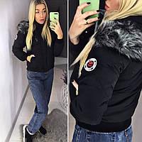 Женская зимняя куртка с капюшоном (производство Китай), фото 1