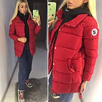 Женская теплая куртка-пальто с обманкой (утеплитель-холофайбер), фото 1