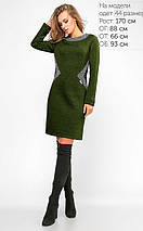 Женское теплое трикотажное платье на флисе (3102 lp), фото 2