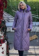 Женская зимняя теплая куртка (норма и батал), фото 1