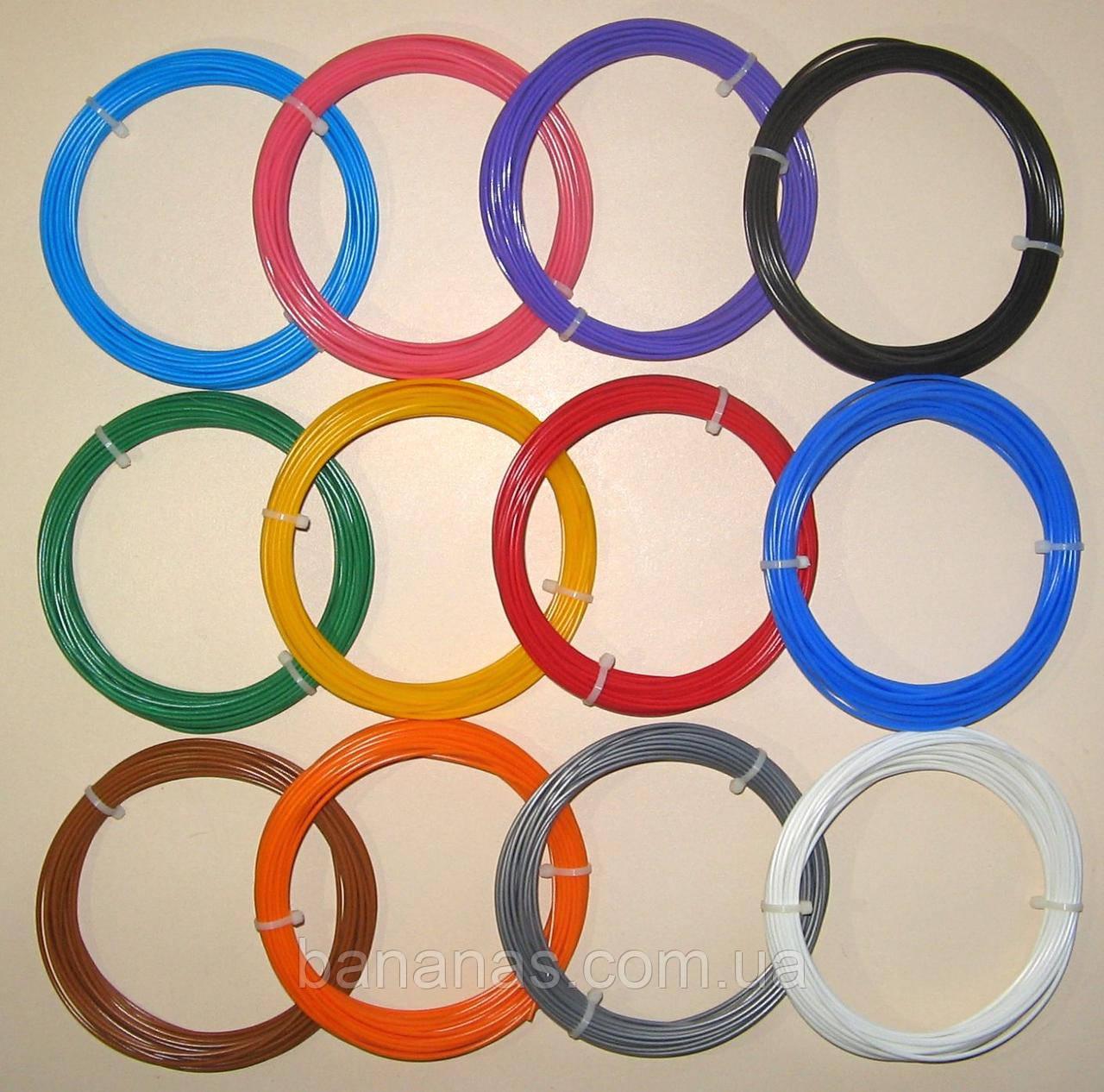 Набор ABS пластик для 3д ручки АБС нити.  12 цветов по 10 метров