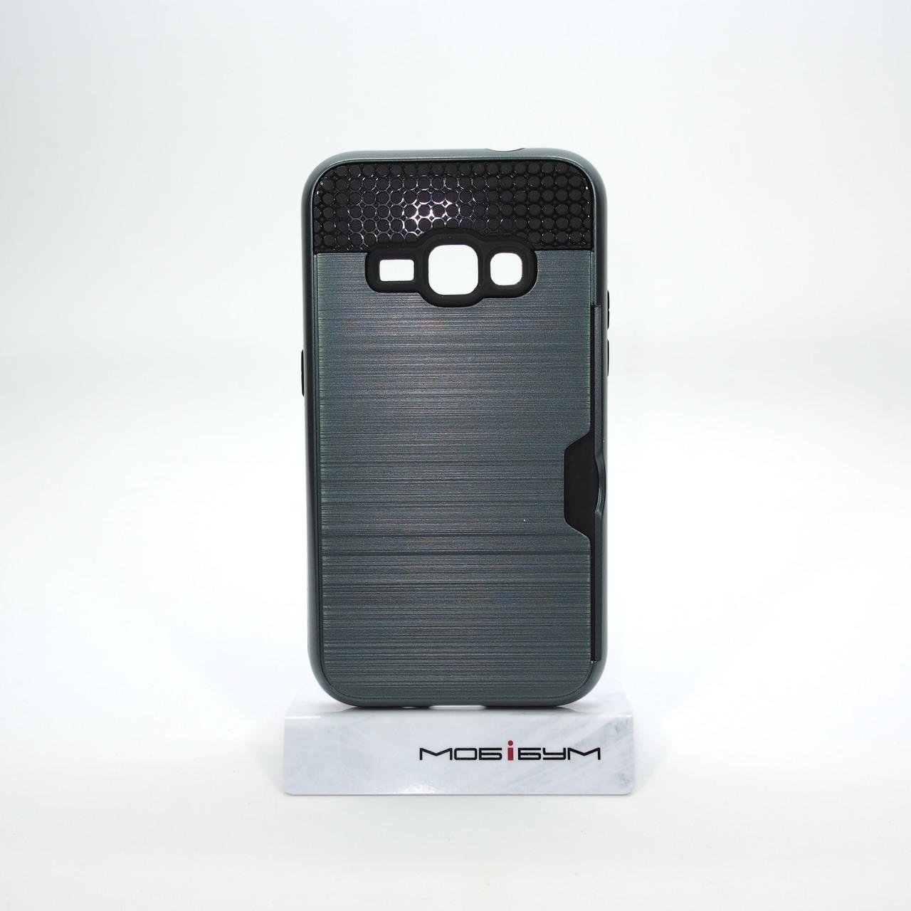 Чехол Rock Card Samsung Galaxy J120 carbon grey