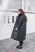 Женская зимняя длинная теплая куртка (синтепон 200), фото 1