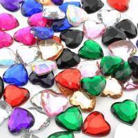 Камень Сердечко клеевой 10 цветов оптом