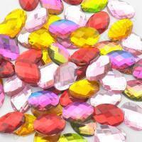 Камень Овальный клеевой 4 цвета оптом