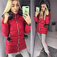 Женская Зимняя Куртка с Помпонами на Кармана(производство Китай) — в ... a478766e770