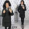 Женская теплая зимняя куртка с капюшоном в разных цветах