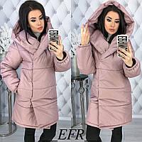 Женская теплая зимняя куртка с капюшоном, фото 1