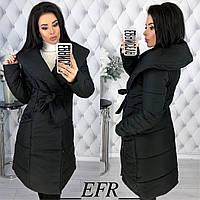 Женская теплая зимняя куртка-пальто (утеплитель-синтепон 200) разные цвета, фото 1
