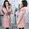 Женская теплая зимняя куртка-пальто (утеплитель-синтепон 200) (мод. 350)