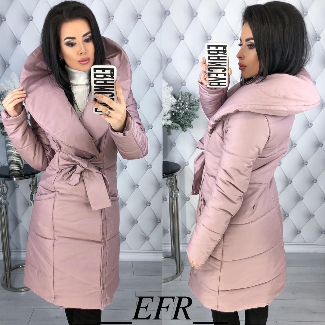 Женская теплая зимняя куртка-пальто (утеплитель-синтепон 200) (мод. 350), фото 1