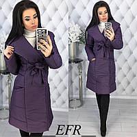 Женская теплая зимняя куртка-пальто (утеплитель-синтепон 200), фото 1