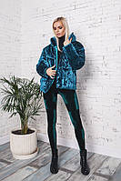 Женская теплая зимняя бархатная куртка Хит сезона!, фото 1