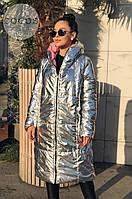 Женская двусторонняя куртка-пальто (норма и батал), фото 1