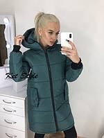 Женская теплая куртка-пальто (утеплитель-синтепон 200), фото 1