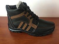 Чоловічі зимові черевики чорні (код 8205), фото 1