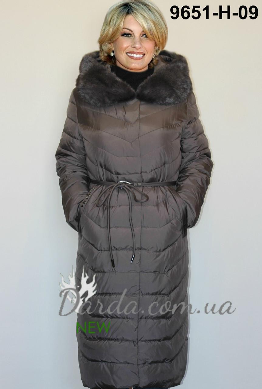 9e6a8575a69ac0d Зимнее пальто с норкой больших размеров для женщин - Интернет-магазин  Darda-Prom.
