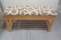 Скамейка для обуви №4 NOVA (90 см) с нишей
