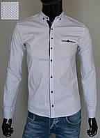 Мужская рубашка приталенная белая Турция 5299