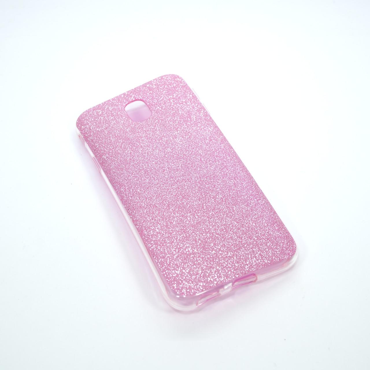 Remax Glitter Silicone Samsung Galaxy J330 pink J3 (J330) 2017 Для телефона