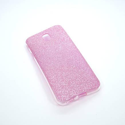 Накладка Remax Glitter Silicone Samsung Galaxy J330 pink, фото 2